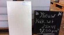 NIEUW: KALK-WITTE WANDTEGEL